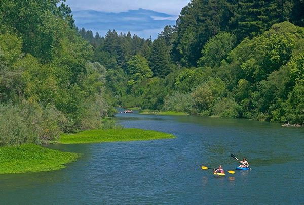 Russian River in California